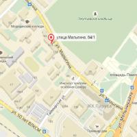 Карта адреса