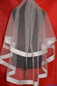фата по пояс с атласной лентой по окантовке.цвет-белый, айвори,цена-1500р.